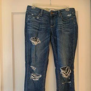 Paige Ripped Boyfriend Jeans